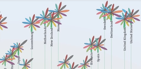 Flower animations in the Better Life Index