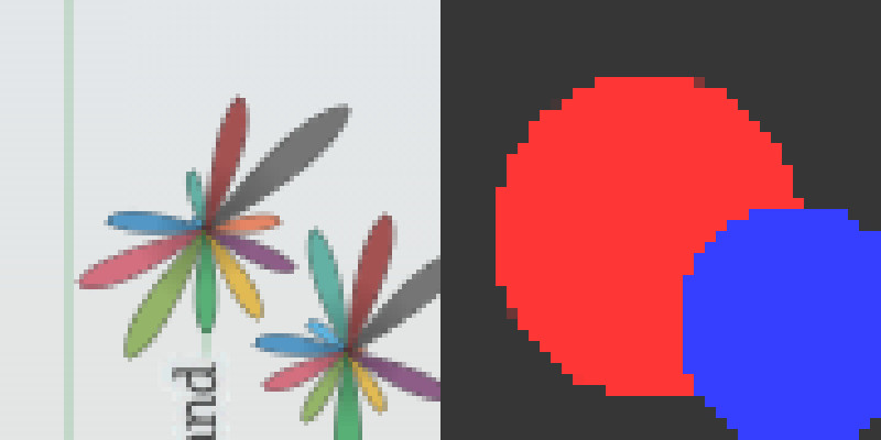 Precalculating a low-resolution map of the flowers for interaction