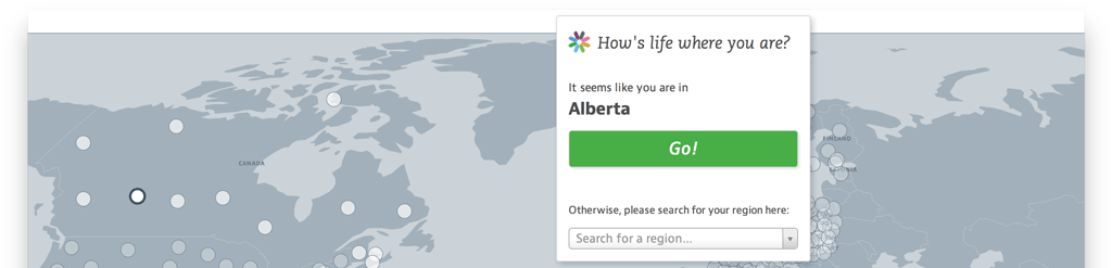Regional Well-Being detects the region you're visiting the website from